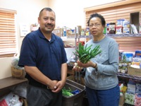 Photo Isaac Vega of Hope Partners at their food bank for nonprofit organizations