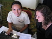 Two women in a project design workshop.